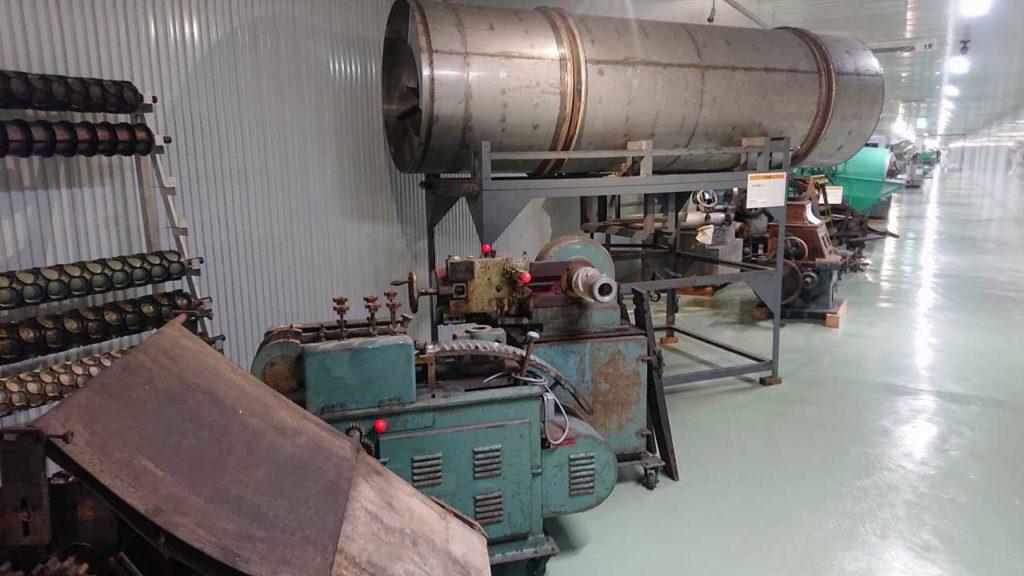 酒田米菓展示の旧自働機械