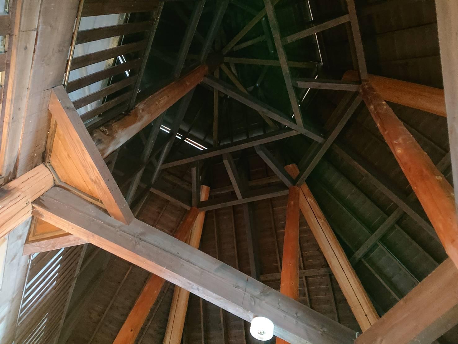 肘折カルデラ温泉天井