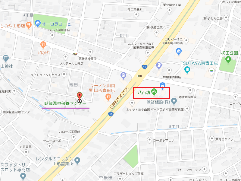 臥龍温泉保養センターのマップ