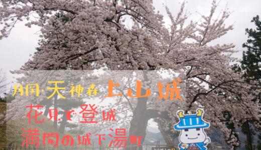 上山城|花見で登城 満開の城下湯町