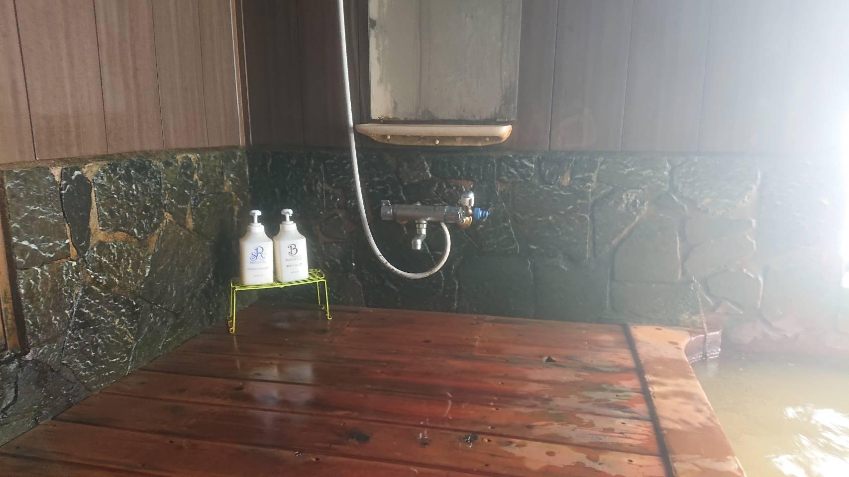 泡の湯温泉 三好荘の洗い場