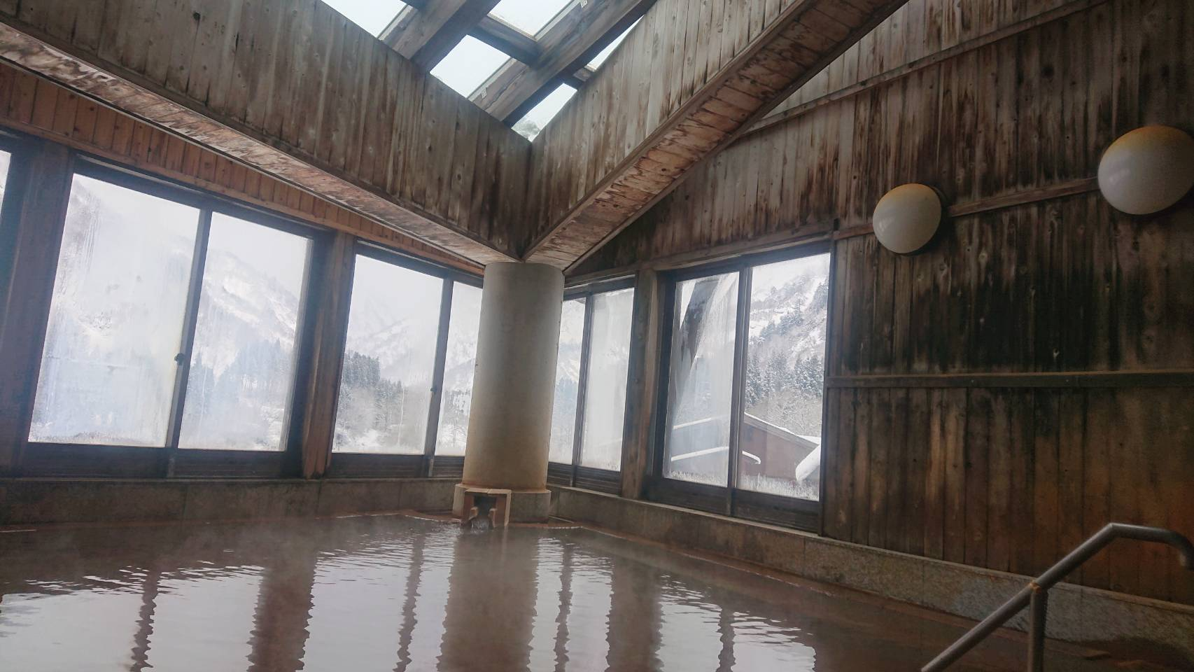 梅花皮荘の浴室1