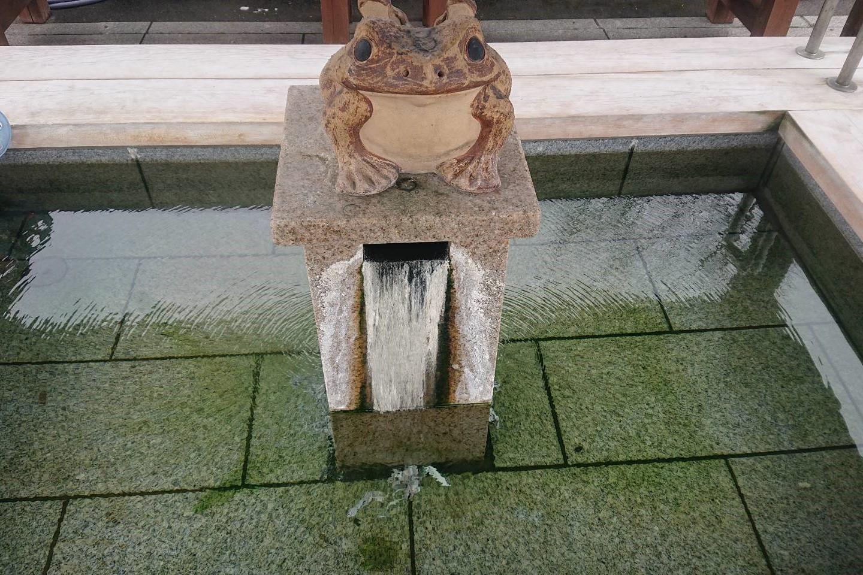 奥おおえ柳川温泉の足湯2