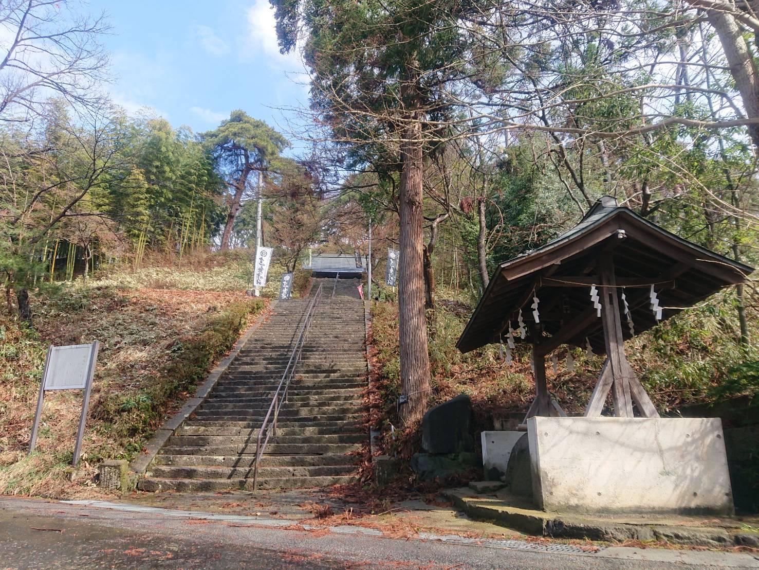 建勲神社のお取り水