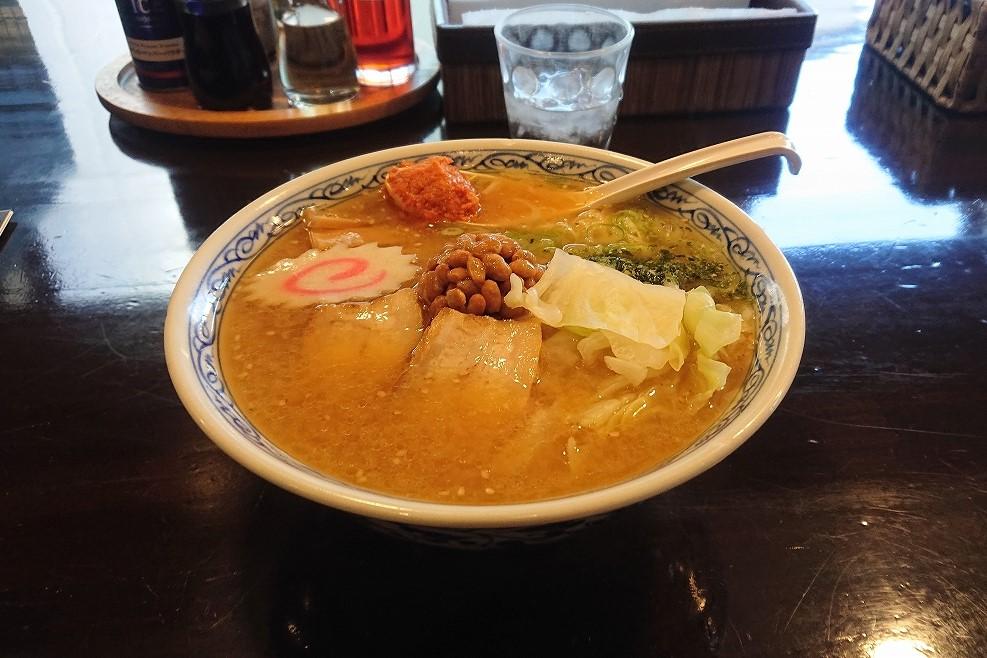 麺工房 華みずきの辛味噌納豆ラーメン