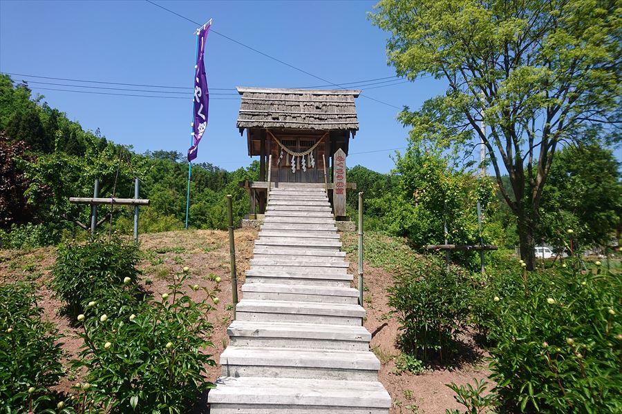 芍薬の杜 諏訪神社のふくろうの社
