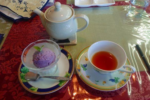 漆山果樹園の紅茶とジェラート