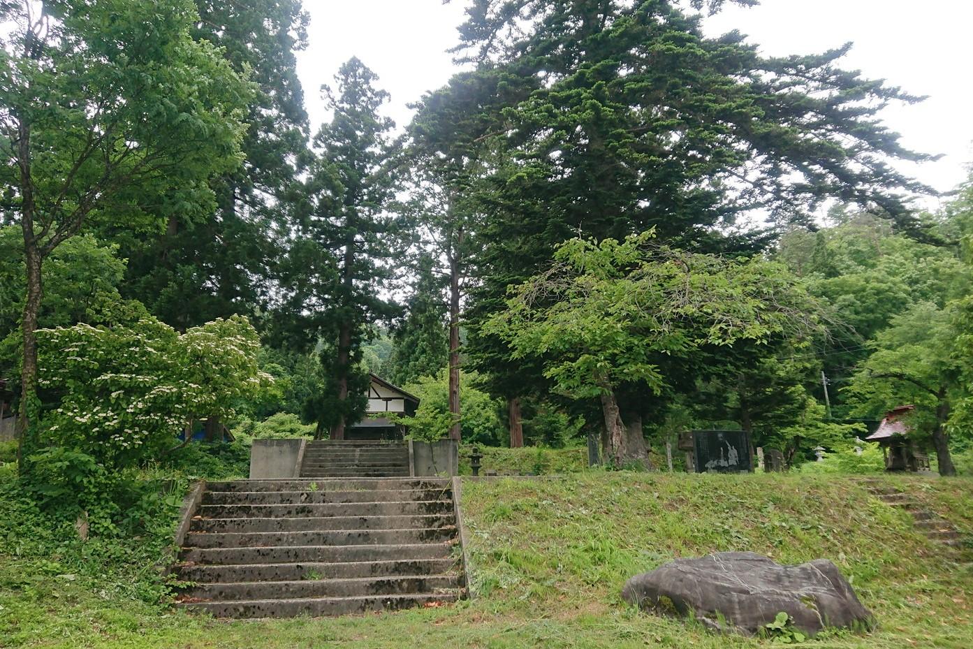 愛宕羽山両神社の芝