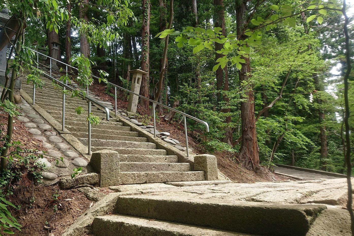 寒河江八幡宮 階段