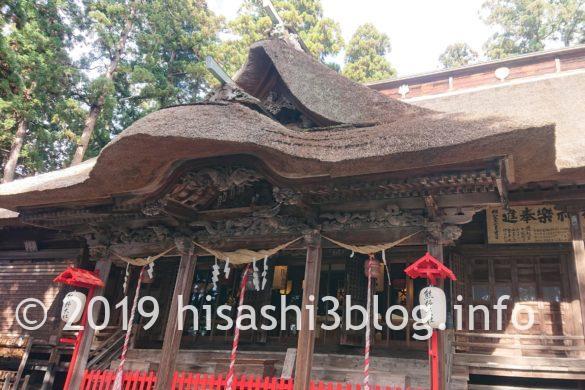 熊野大社の拝殿2