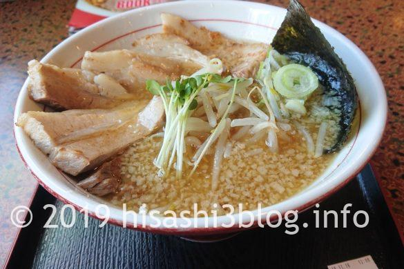 麺屋いばらきのこってりラーメン(チャーシュー追加)2