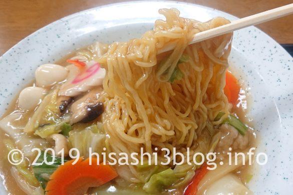 西華の「あんかけ焼きそば」麺アップ