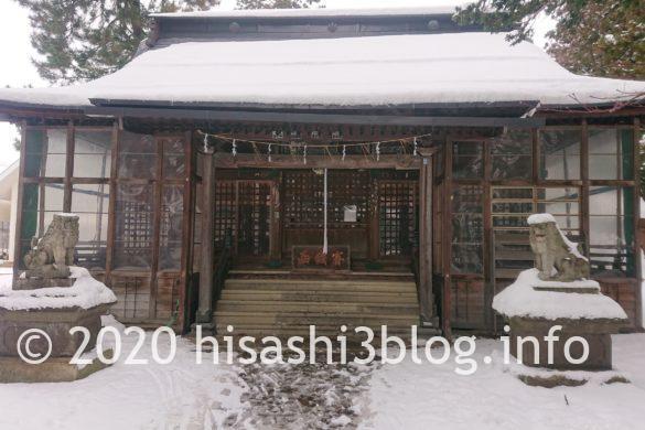 松岬神社の拝殿