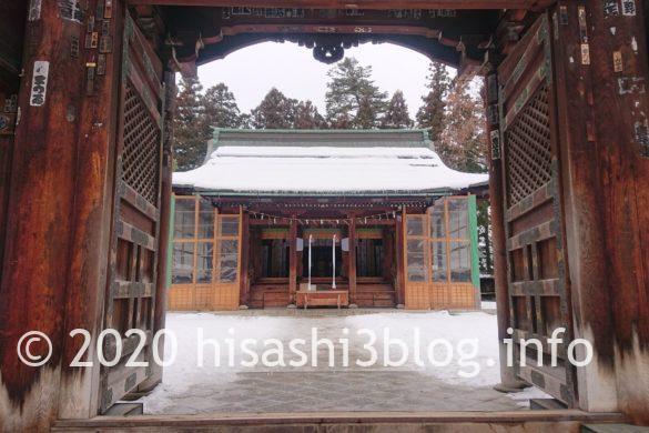 上杉神社の拝殿