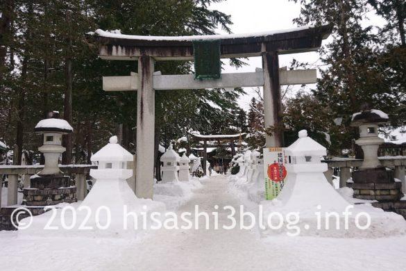 上杉神社の参道3