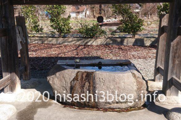 熊野・居合両神社の手水舎