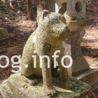 犬の宮の狛犬