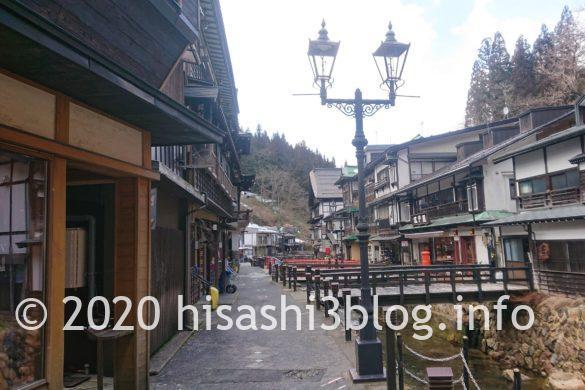 銀山温泉街の景色2