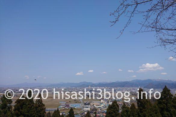 長谷堂城跡公園からの眺め