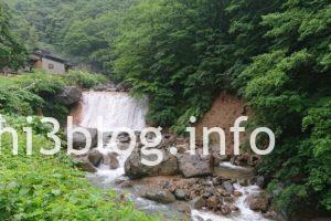 滑川温泉 福島屋隣の滝