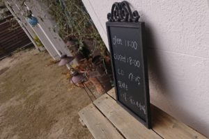 CAFE SORA。の看板